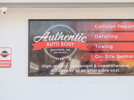 SHOP SMALL // Authentic Auto Body, Holliston MA