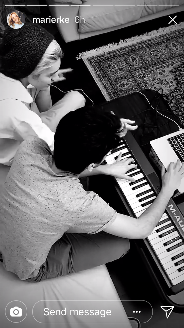 Kristian and his brother Daniel working on a new song together.