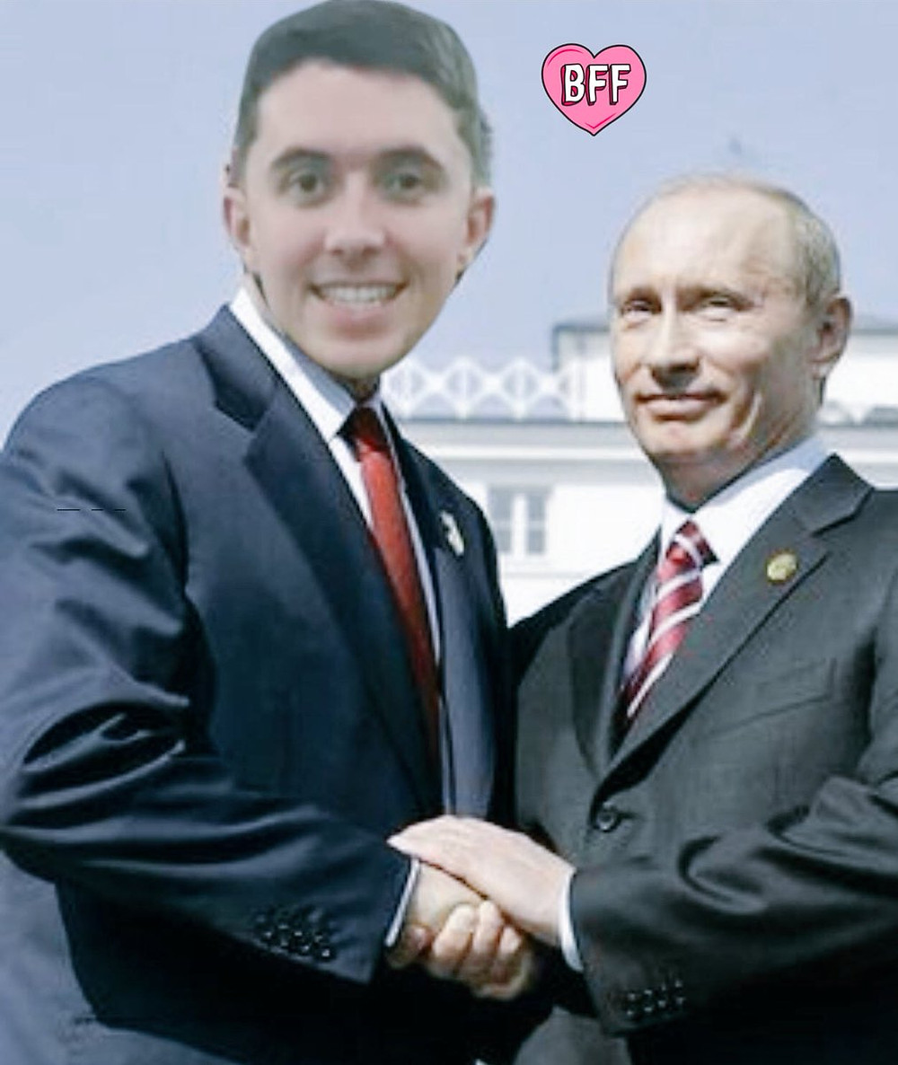 "Ryan tweeted this photo back in March captioned ""From Russia with love"""