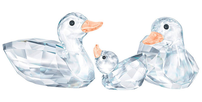 Swarovski figurer Ducks, set
