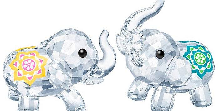Swarovski figurer Lucky Elephants