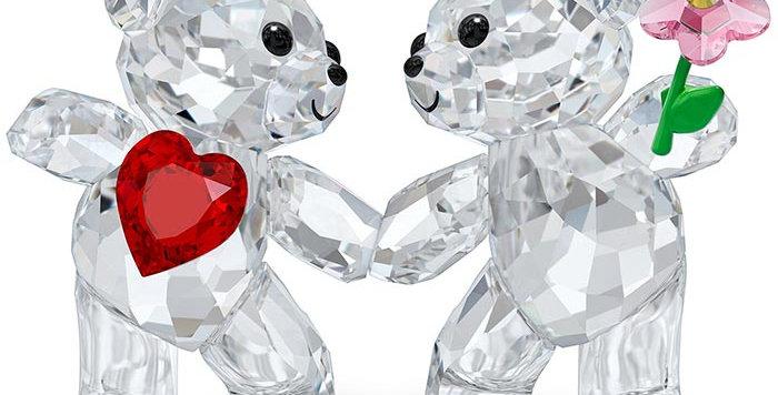 Swarovski figurer Kris Bear - Happy together