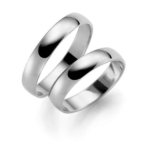 Forlovelsesringer i sølv, 4 mm/1 mm fra Espeland
