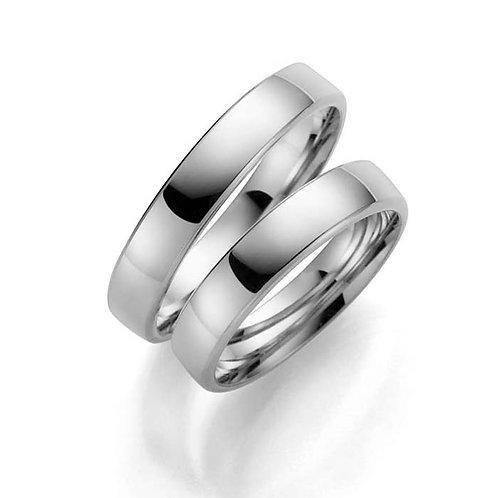Forlovelsesringer i sølv, 4 mm/1,6 mm fra Espeland