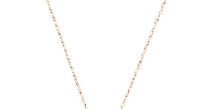 Smykke Swarovski Sparkling Dance Round Necklace, White, Rose-gold tone plated