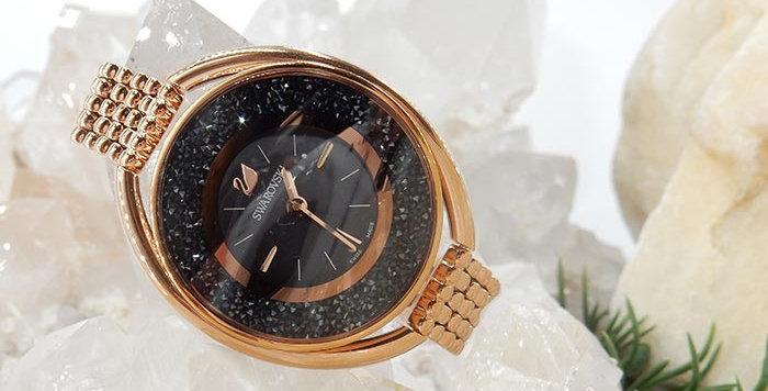 Swarovski klokke Crystalline Oval, dark gray dial