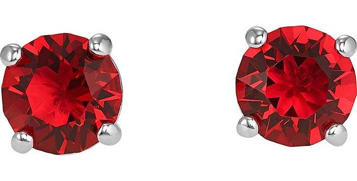 Swarovski øredobber Attract Stud, røde krystaller