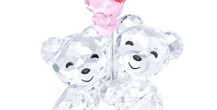 Swarovski figurer Kris Bear - Heart Balloons