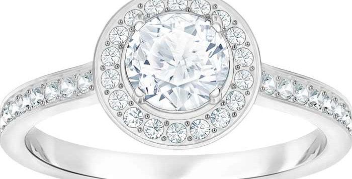 Swarovski ring Attract Light Round