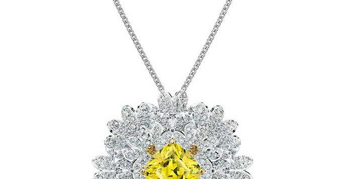 Swarovski smykke Eternal Flower Brooch, Yellow, Mixed metal finish