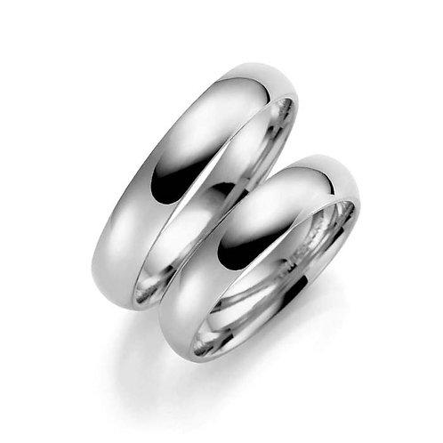 Forlovelsesringer i sølv, 4 mm/1,7 mm fra Espeland