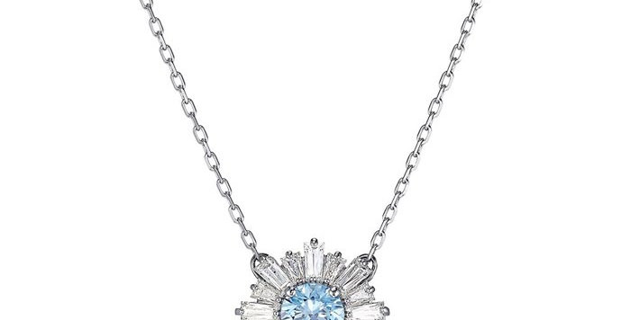 Swarovski smykke Sunshine, blue center