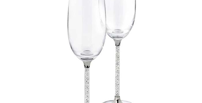 Swarovski Crystalline Toasting Flutes (Set of 2)