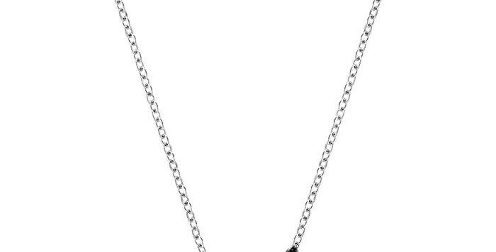 Smykke Swarovski Iconic Swan Pendant, Black, Rhodium plated