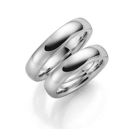 Forlovelsesringer i sølv, 4 mm/2,8 mm fra Espeland