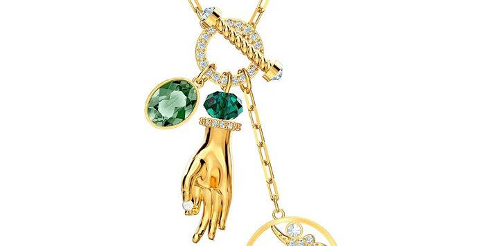 Swarovski smykke Symbolic Hand Om, gult
