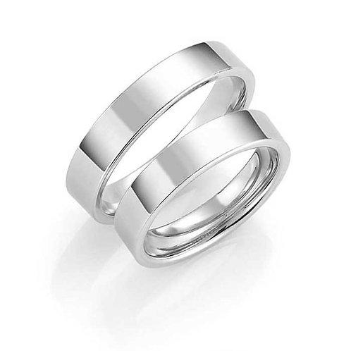 Forlovelsesringer i sølv, 4 mm/1,9 mm fra Espeland