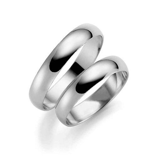 Forlovelsesringer i sølv, 4 mm/1,1 mm fra Espeland