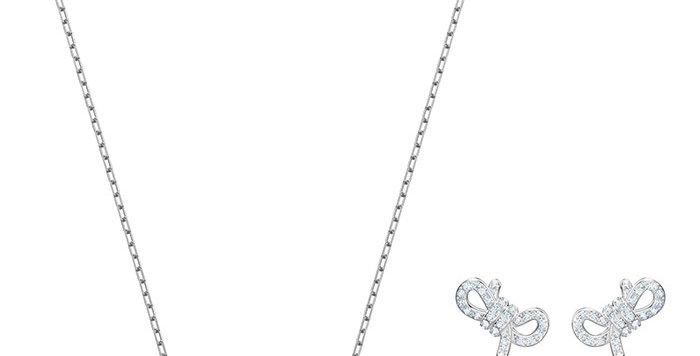 Swarovski smykkesett Lifelong Bow