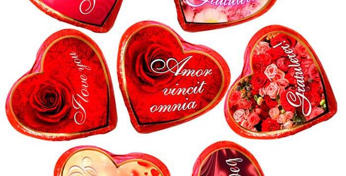 Sjokoladehjerte med tekst