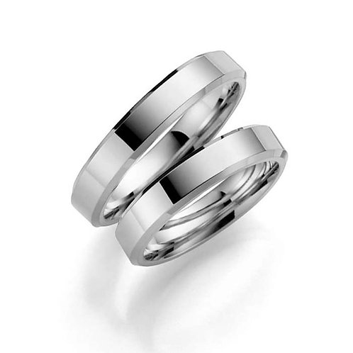 Forlovelsesringer i sølv, 4 mm/1,8 mm fra Espeland