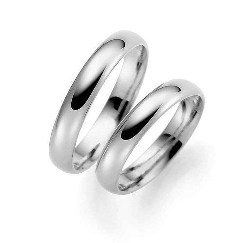 Forlovelsesringer i sølv, 4 mm/1,3 mm fra Espeland