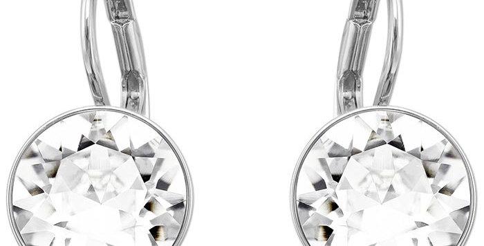 Swarovski øredobber Bella Mini Earrings, White, Rhodium plated