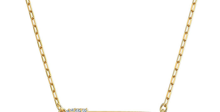 Swarovski Collier So Cool Pin, White, Gold-tone plated