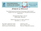 Amruta Inc Honored with Distinguished Paper Awards at Engineering Lean & Six Sigma Conference