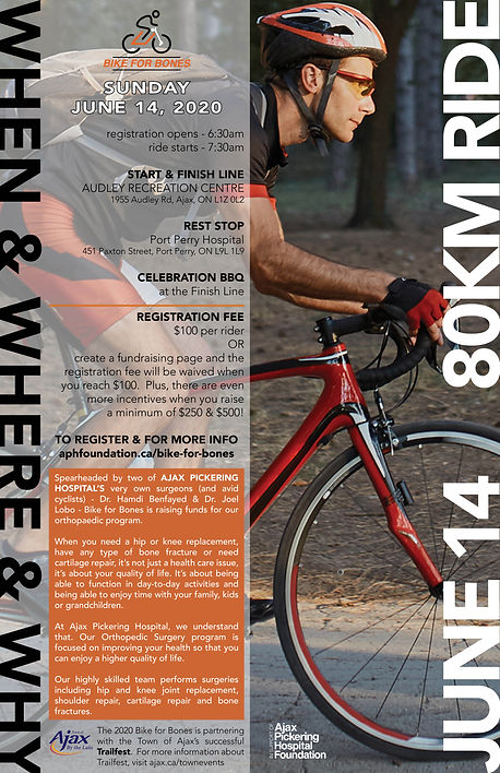 Bike for Bones poster (11x17) - March 18