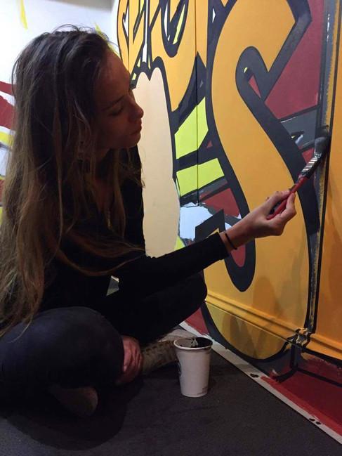 pop art style artwork muralist