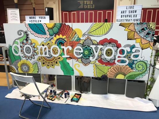 om yoga show live art in progress