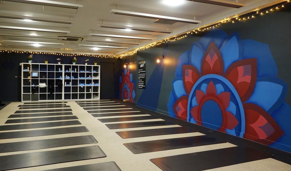 Mandala mural london queens mother sportcentre victoria 2
