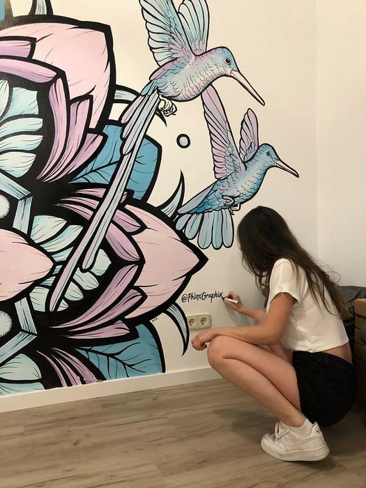 mandala mural madrid painting  9