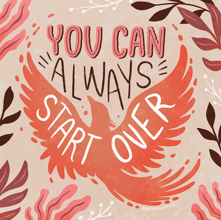 Phloxgraphix illustration - You can always start over