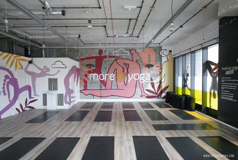 yoga characters mural 07