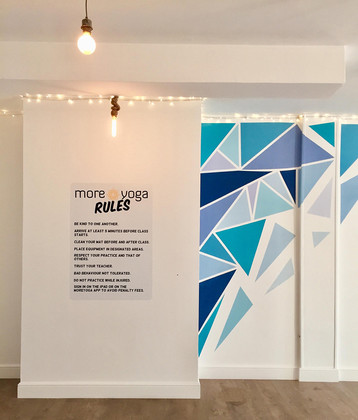 abstract mural artwork and more yoga rules