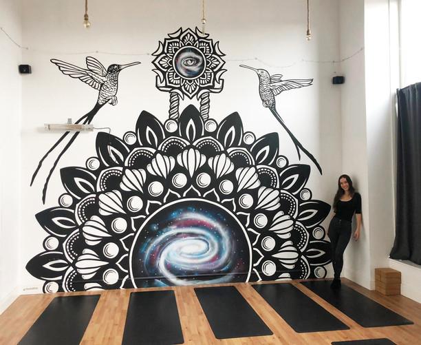 Mandala galaxy mural painting psy gate 8