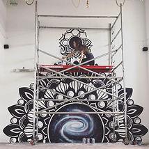 galaxy gate mandala mural