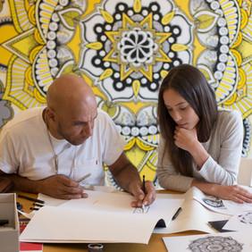 With Mr. Goldie brainstorming