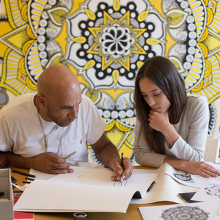 With Mr. Goldie brainstorming