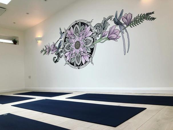 the aviary mural art sacred geometry35