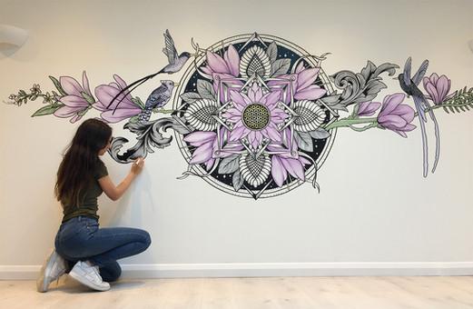 The Aviary Mural