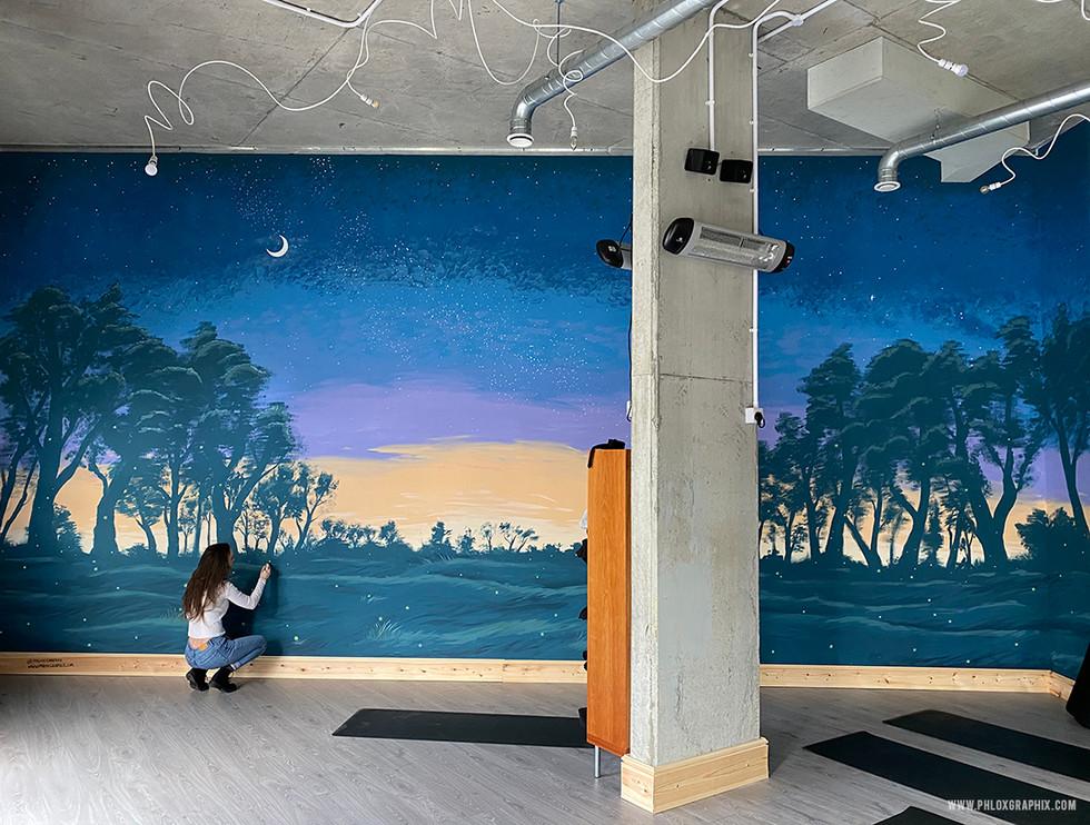 fantasy forest mural william shakespeare mid summer nights dream 2