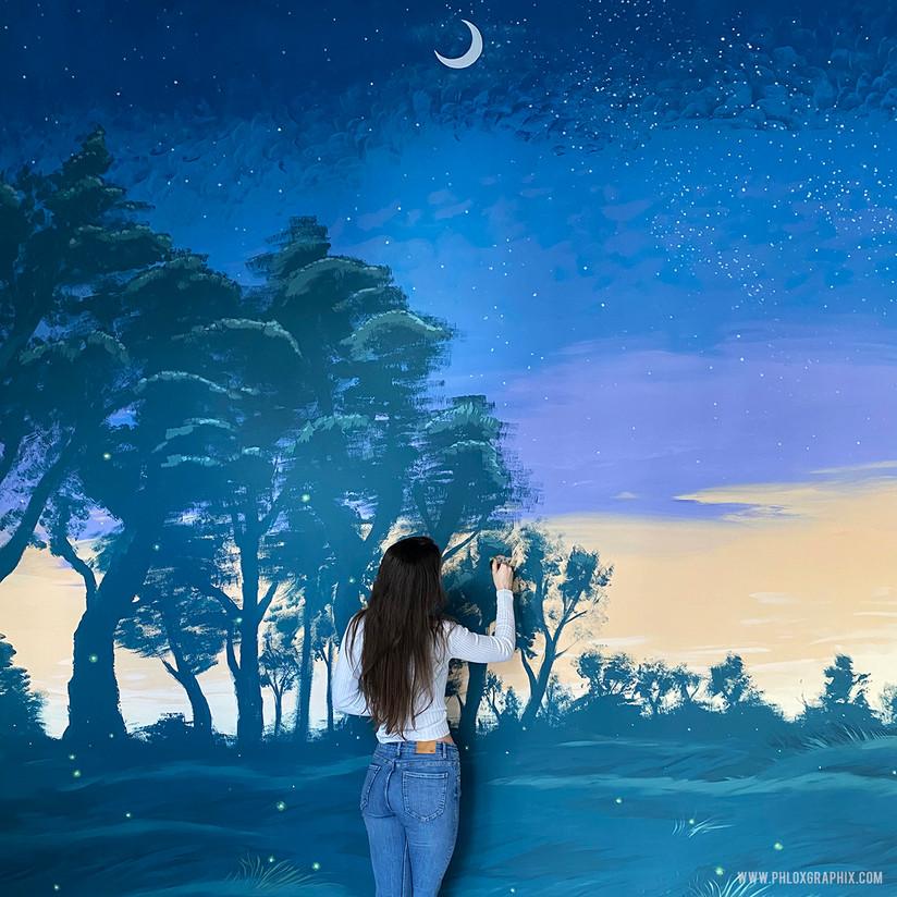 fantasy forest mural william shakespeare mid summer nights dream