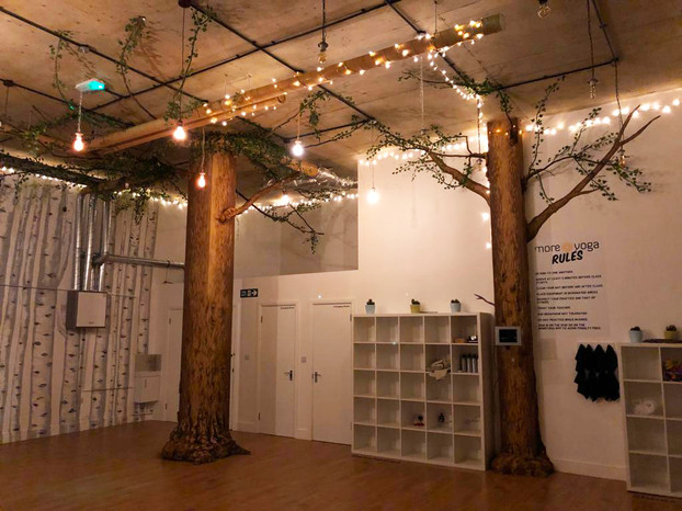 Birch Forest Mural with tree installations 11