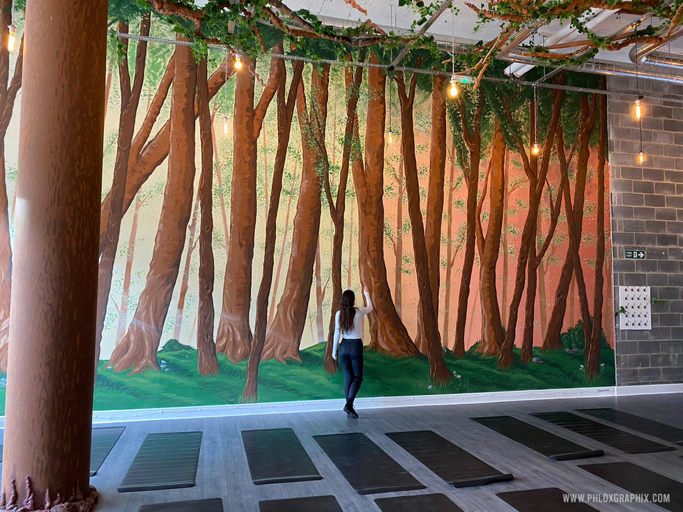 Forest mural and tree installations by phloxgraphix 4