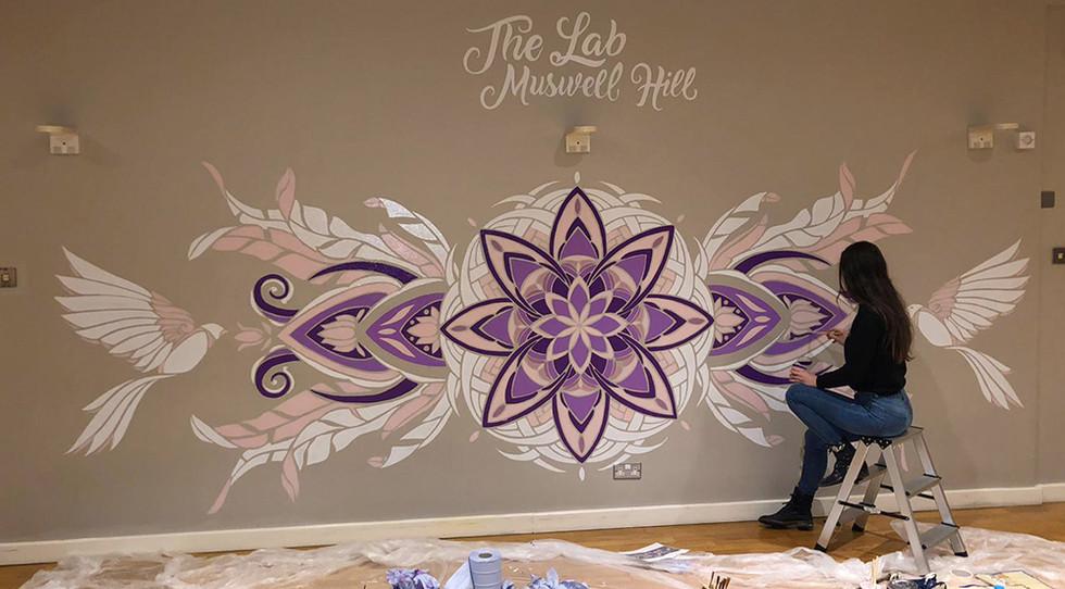 Rose Window Mandala Mural
