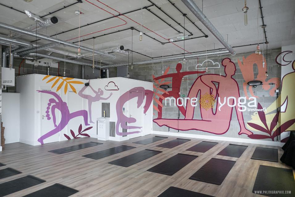 yoga characters mural 03