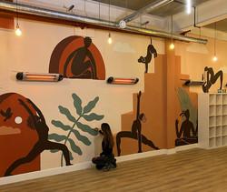 Yoga Room Mural